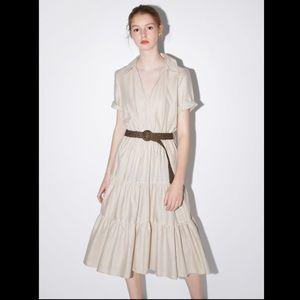 Zara NWT midi dress with belt